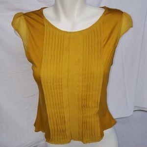 ☀️3/$50 H&M Deep Copper Yellow Short SleevedBlouse